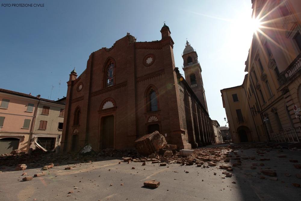 Duomo di Mirandola dopo il terremoto