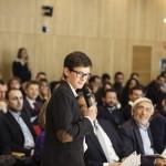 """Il 15enne Cesare Cacitti, il più giovane tra i partecipanti al Premio, presenta il suo progetto """"Stampante 3D low cost"""""""