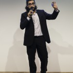 Andrea Rinaldo durante il pitch di presentazione del Progetto Xmetrics, vincitore del Premio dall'idea all'impresa