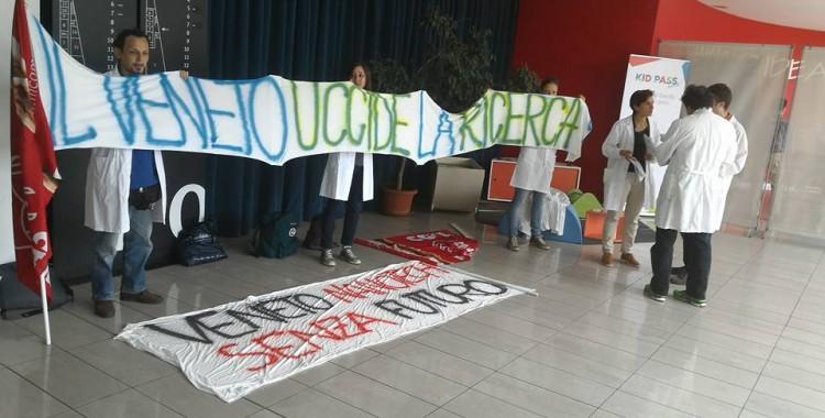 I ricercatori di Veneto Nanotech protestano