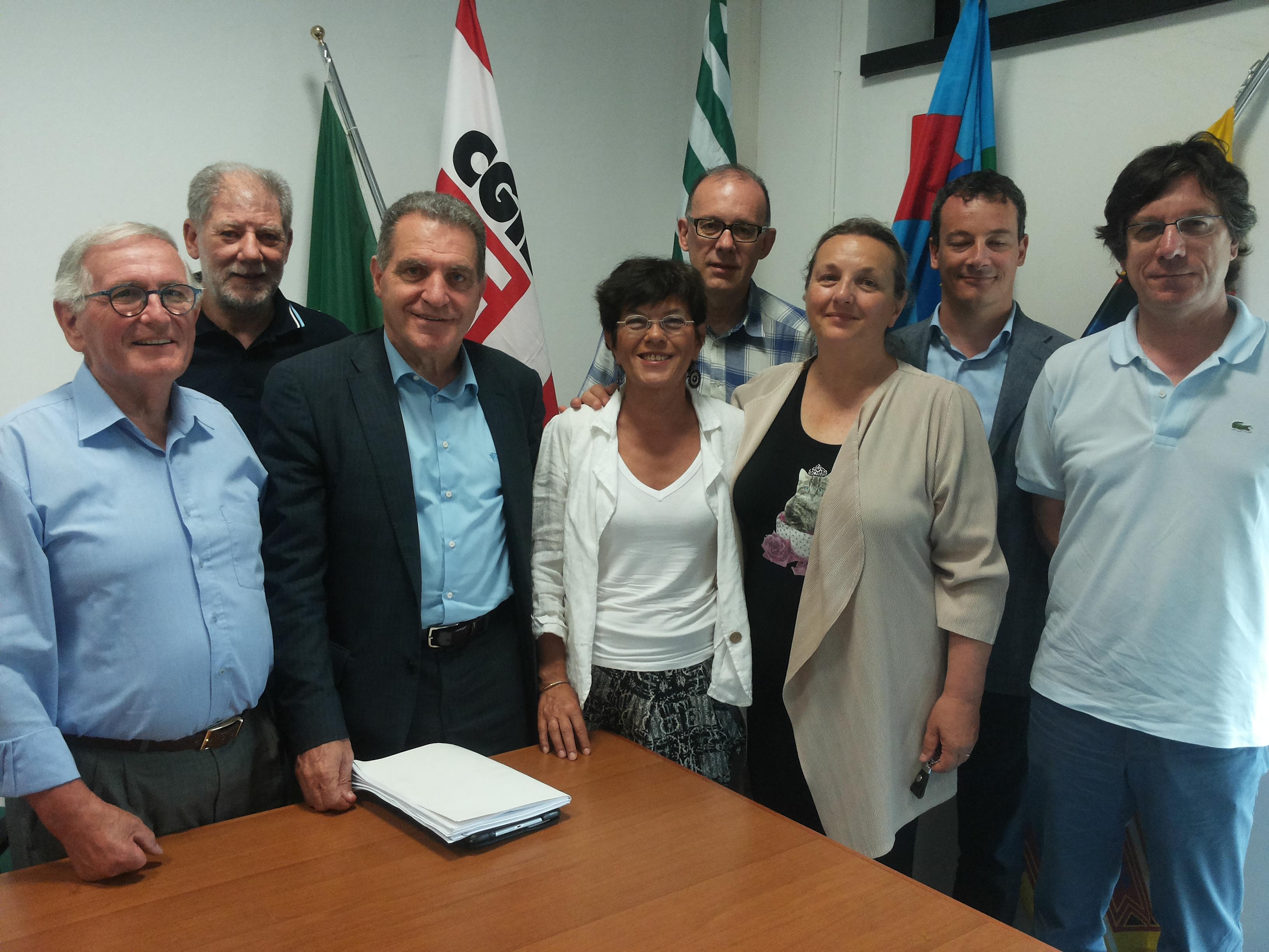 Pensionati Spi, Fnp e Uilp con i parlamentari veneti