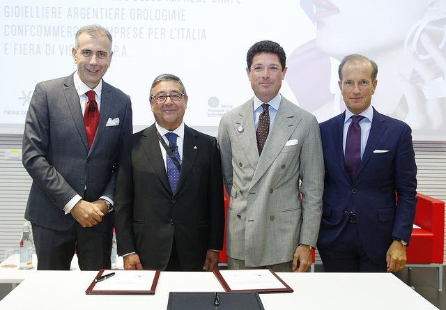 I vertici di Federpreziosi e Fiera di Vicenza