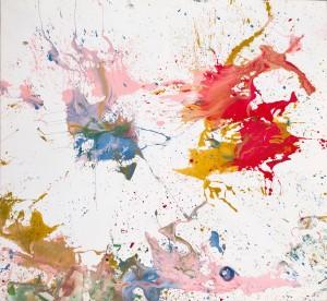 Un'opera di Shimamoto in mostra