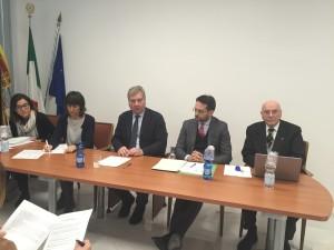 Da destra a sinistra: Giacomelli, Caobelli, Prando, Caucchioli, Cesari