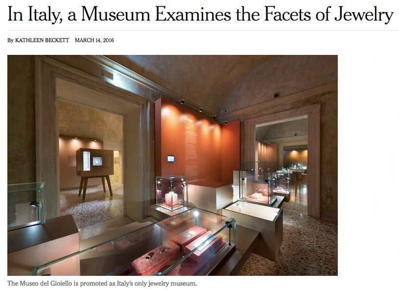 New York Times sul museo del gioiello di Vicenza