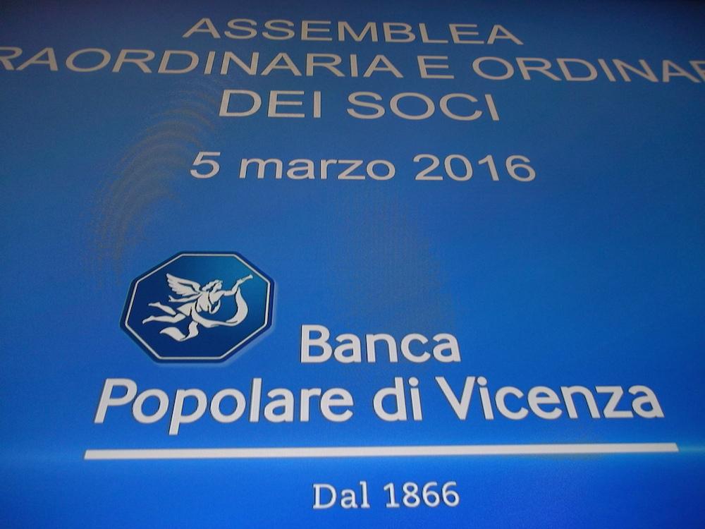 Assemblea Banca Popolare di Vicenza 5 marzo 2016