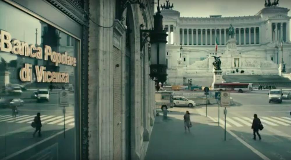 Fotogramma da uno spot di Banca Popolare di Vicenza