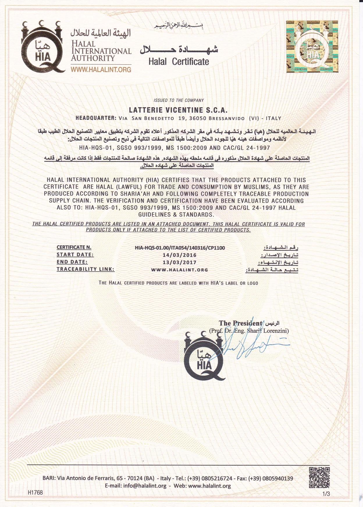Il certificato Halal