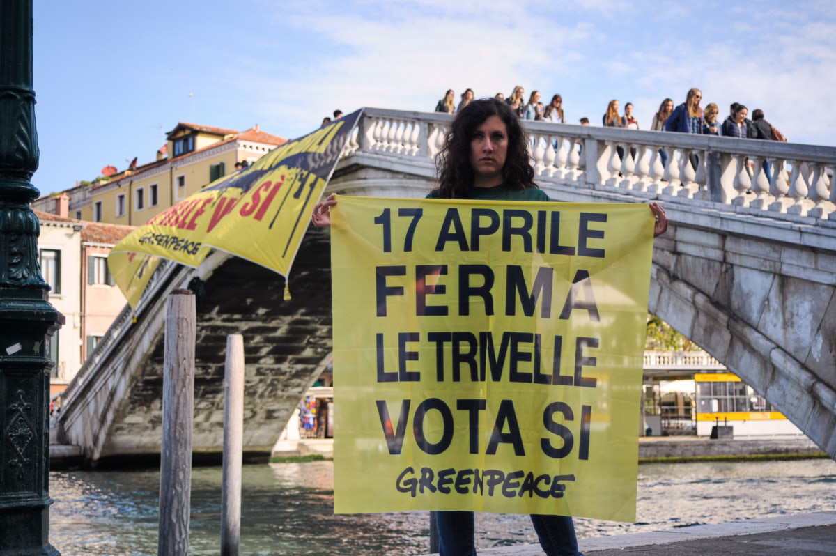 Referendum trivelle Venezia