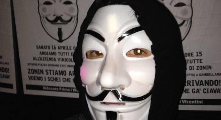Banca Popolare di Vicenza Guy Fawkes