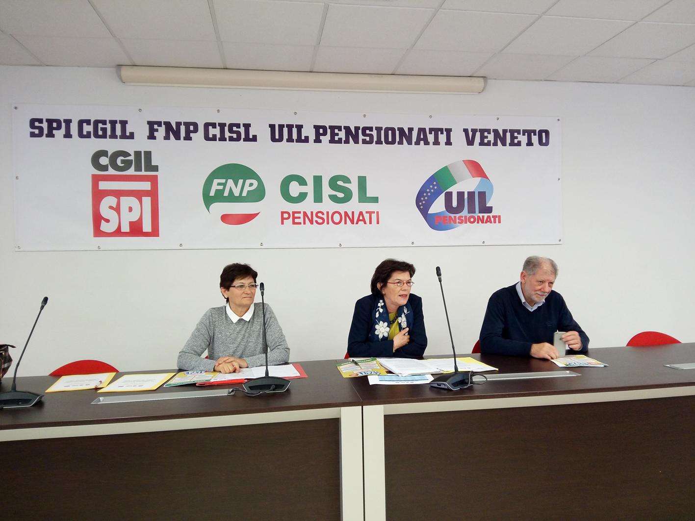 Pensionati Cgil Cisl Uil Veneto