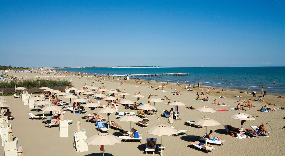 Lido di Venezia spiaggia Bandiera Blu