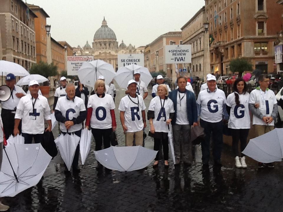 Commercianti di Ascom Padova a Roma, un segnale a Renzi