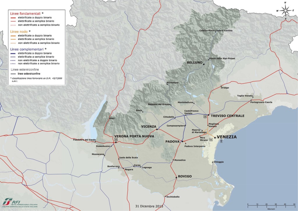 ferrovie in Veneto