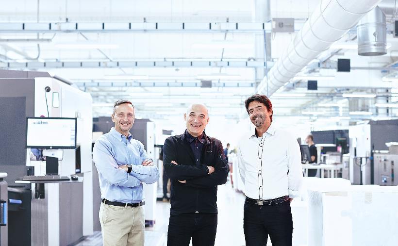 Pixartprinting da sin. Paolo Roatta – Alessandro Tenderini – Alessio Piazzetta