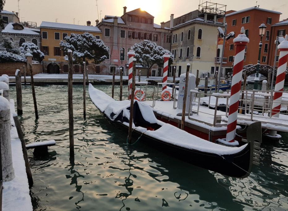 Neve a Venezia (via Twitter)