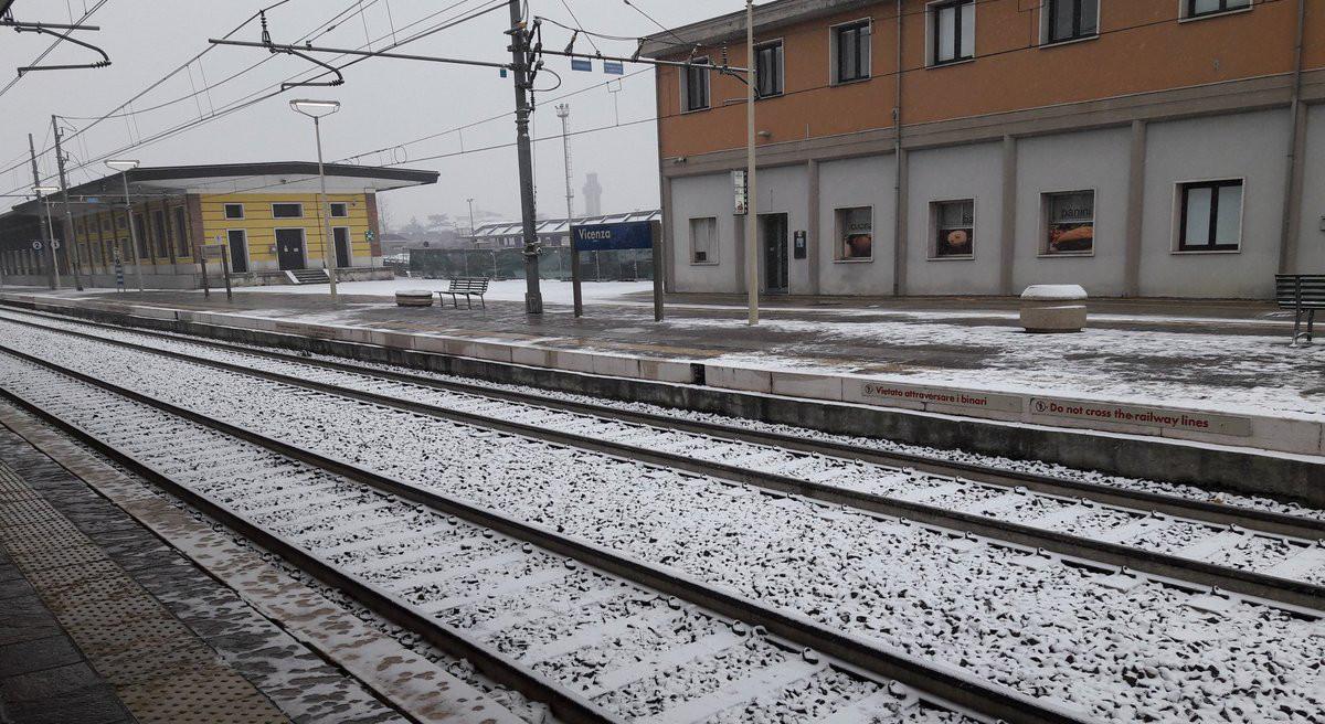 treno neve vicenza twitter