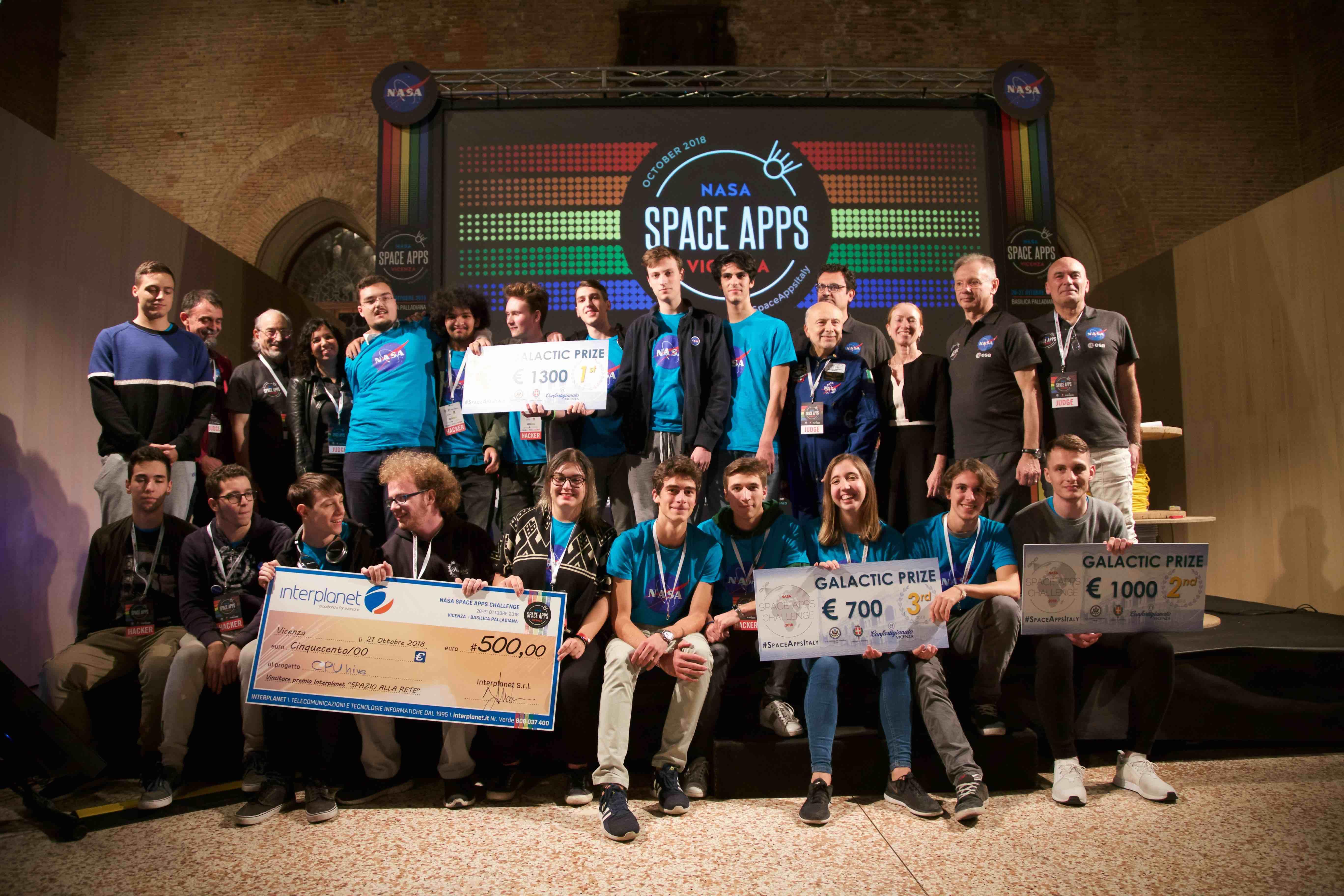 NAsa SpaceApps Vicenza – gruppo vincitori