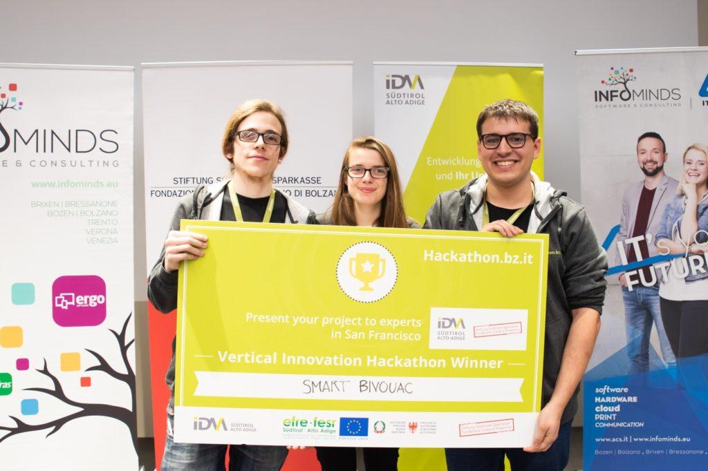 Una studentessa padovana tra i vincitori del Vertical Innovation Hackathon con il bivacco smart