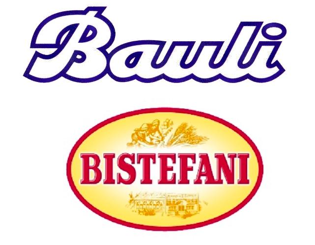 I loghi di Bauli e Bistefani