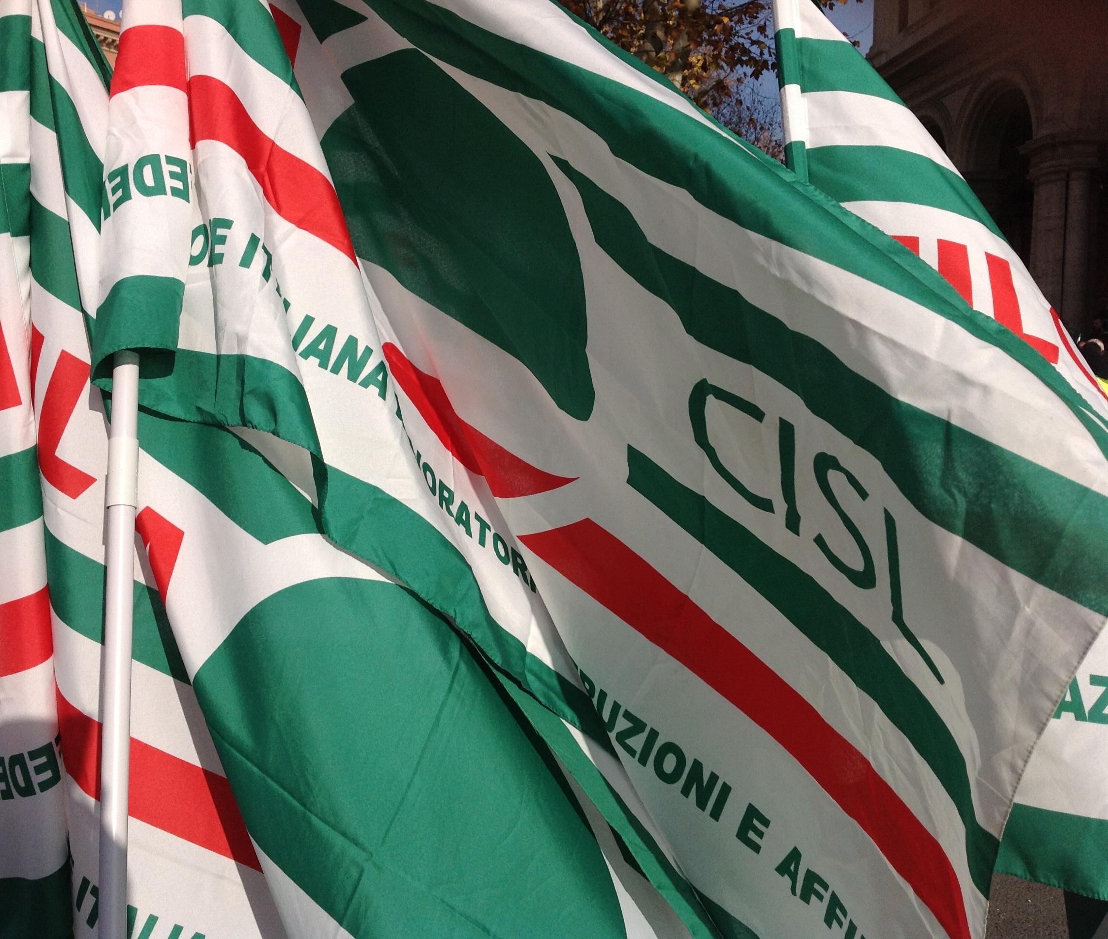 Bandiere della Cisl