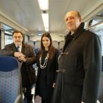 Chisso, Giaconia e Gambato nel nuovo treno Flirt