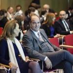 La figlia di Gaetano Marzotto, Margherita Marzotto, con Ferdinando Businaro, amministrazione delegato dell'Associazione Progetto Marzotto, che organizza il Premio