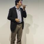 Giuseppe Morlino durante il pitch di presentazione del Progetto Snapback, finalista del Premio dall'idea all'impresa