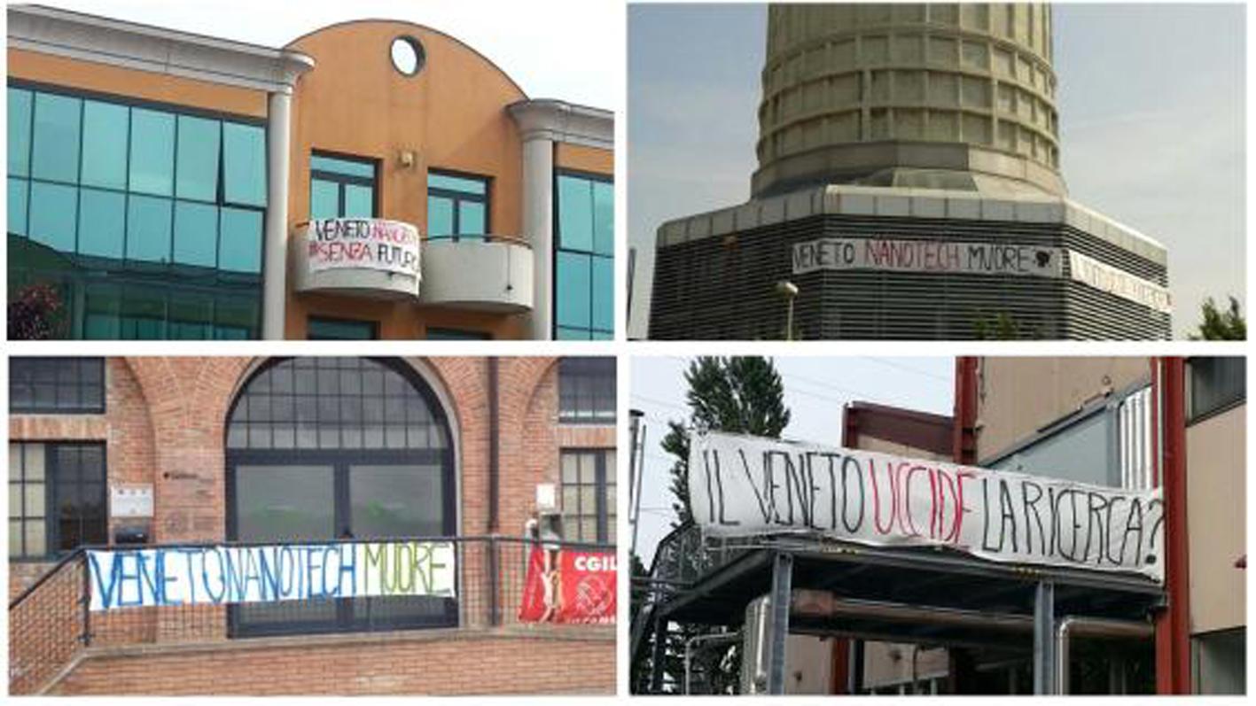 Veneto Nanotech, la protesta dei ricercatori