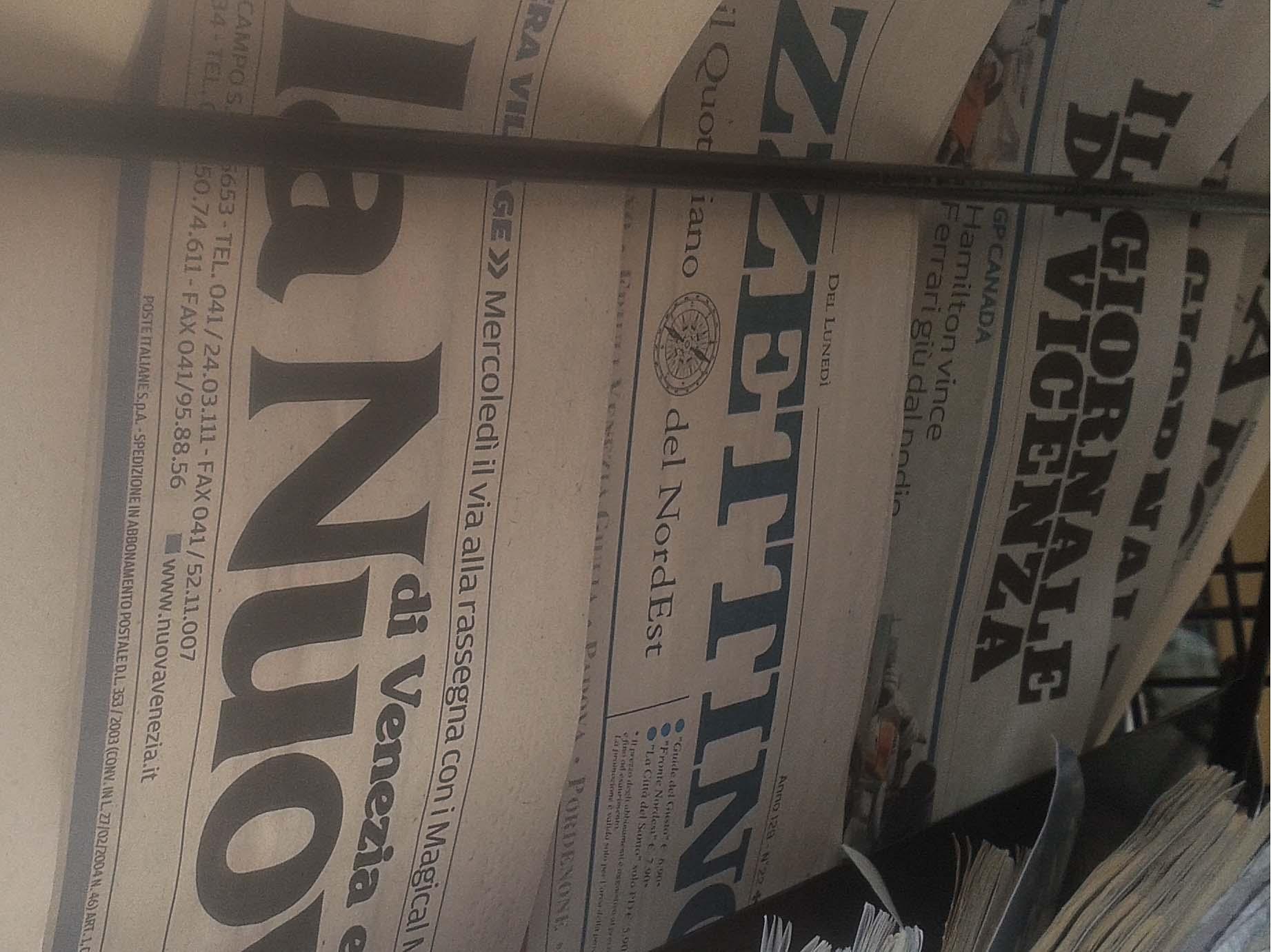 Giornali in edicola in Veneto