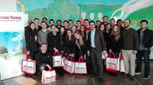 Studenti del Cimba alla Latteria Montello