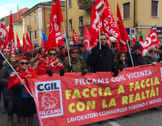Filcams Vicenza sciopero turismo
