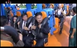 Kim Jong Un su una giostra Zamperla