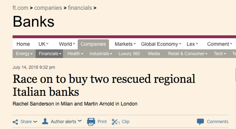 Financial Times Veneto Banca