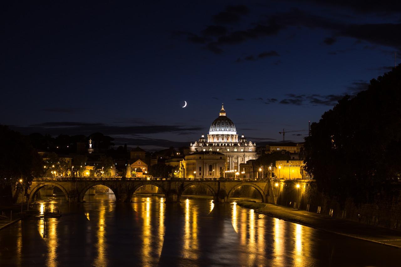 roma notte illuminazione