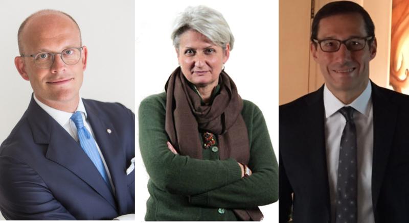 Alberto-Maria Camilotti, Margherita Monti e Fabio Marchetto dei Commercialisti del Triveneto