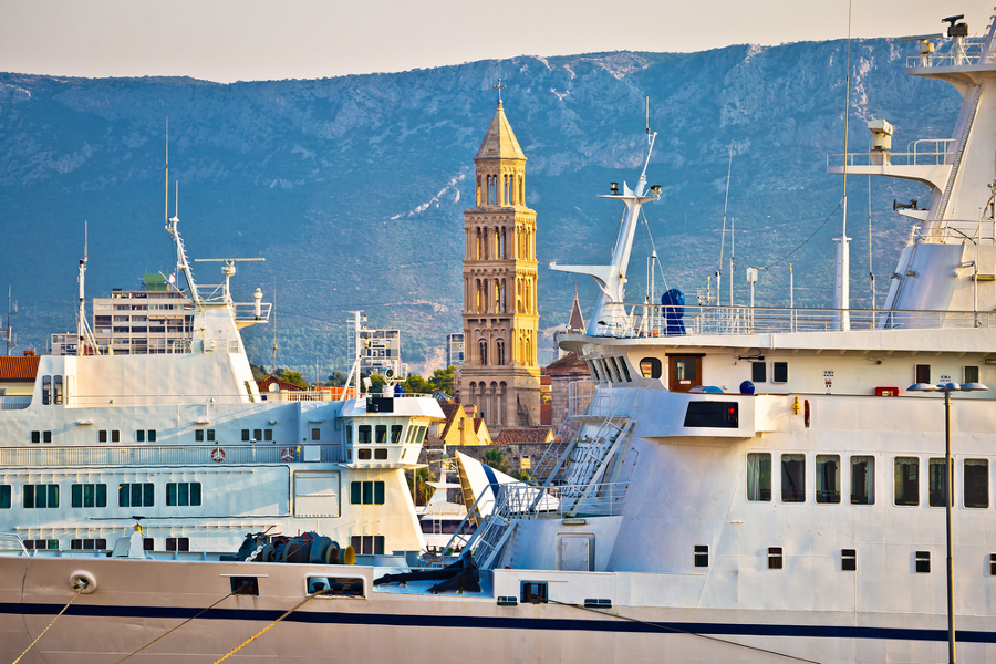 Croazia Adriatico Spalato traghetto
