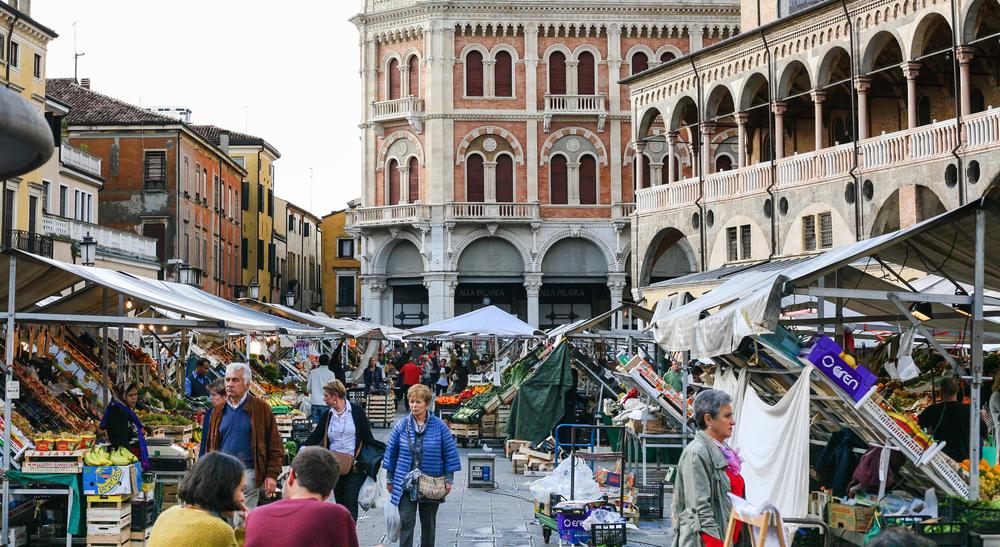 popolazione veneto piazza padova mercato