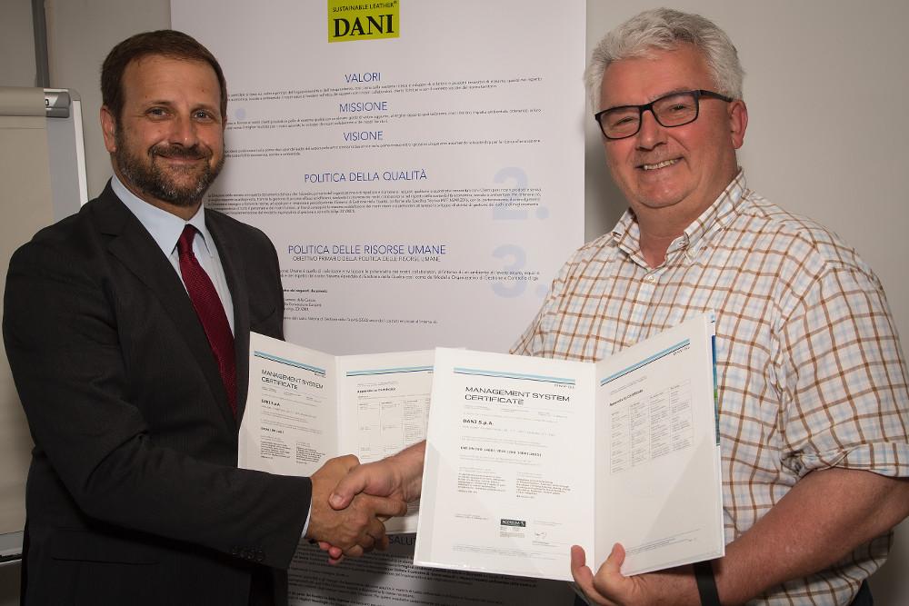 Dani Arzignano certificazione