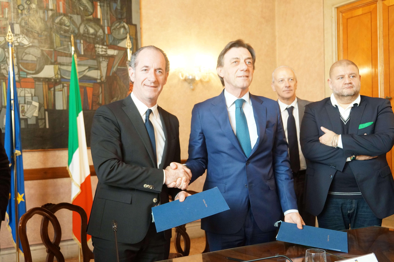 Ospedale di Padova firma Luca Zaia Sergio Giordani