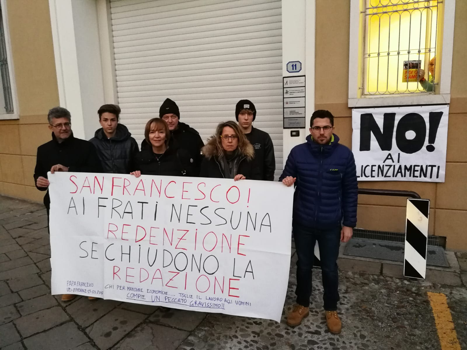Messaggero di Sant'Antonio protesta