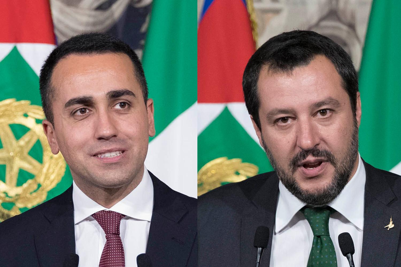 Di Maio e Salvini (Quirinale)