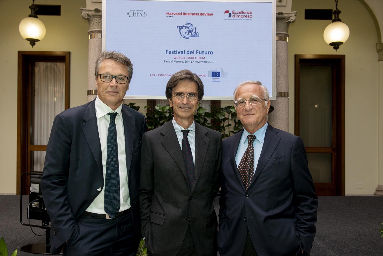 Da sinistra Matteo Montan, Luigi Consiglio, Enrico Giovannini