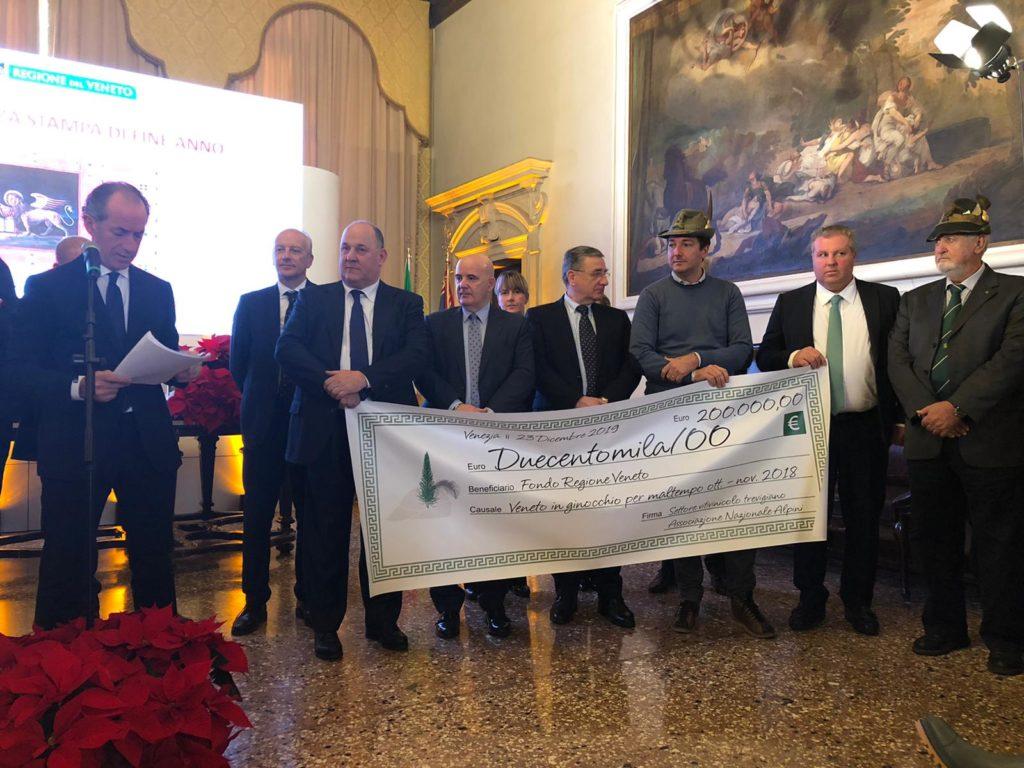 """""""Bollicine solidali"""", 200 mila euro donati alla montagna veneta"""